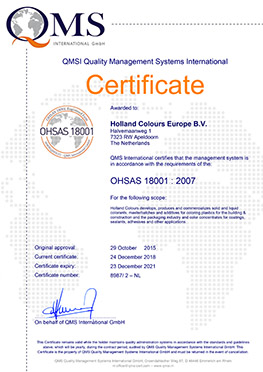 holland colours europe ohsas 18001