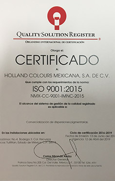 holland colours mexico iso 9001