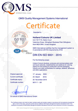 holland colours uk iso 9001